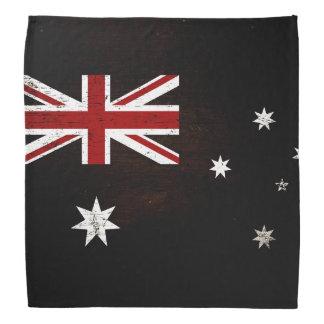 Black Grunge Australia Flag 2 Head Kerchief