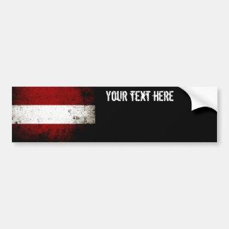 Black Grunge Austria Flag Bumper Sticker