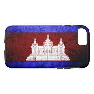 Black Grunge Cambodia Flag iPhone 7 Case