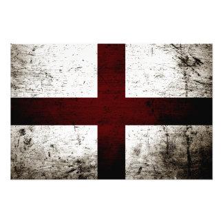 Black Grunge England Flag 2 Photo Art