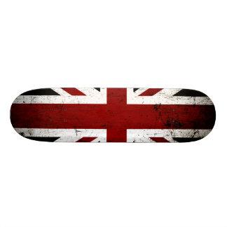 Black Grunge England Flag 3 Skate Decks