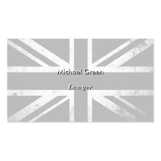 Black Grunge England Flag 4 Pack Of Standard Business Cards