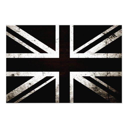 Black Grunge England Flag 4 Photograph
