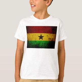 Black Grunge Ghana Flag T-Shirt
