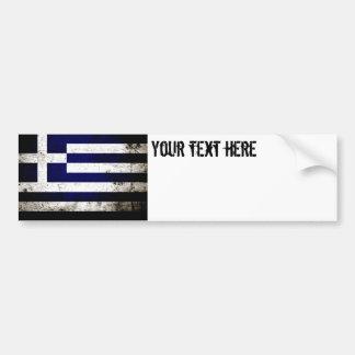Black Grunge Greece Flag Bumper Stickers