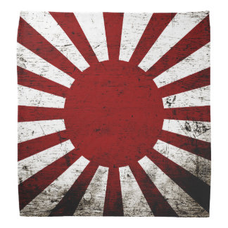 Black Grunge Japan Rising Sun Flag Do-rag