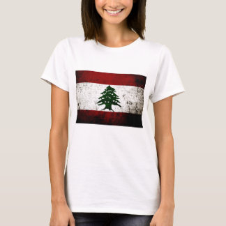Black Grunge Lebanon Flag T-Shirt