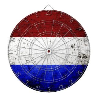 Black Grunge Netherlands Flag Dartboards