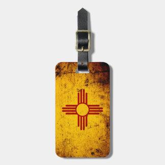 Black Grunge New Mexico State Flag Bag Tag