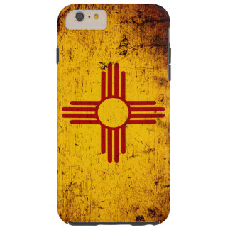 Black Grunge New Mexico State Flag Tough iPhone 6 Plus Case