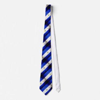 Black Grunge Nicaragua Flag Tie