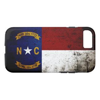 Black Grunge North Carolina State Flag iPhone 7 Case