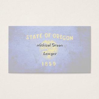 Black Grunge Oregon State Flag