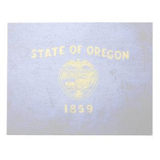 Black Grunge Oregon State Flag Note Pad