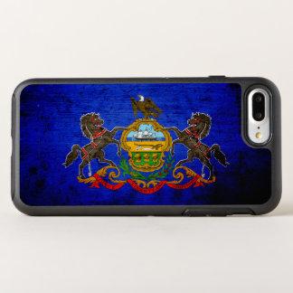Black Grunge Pennsylvania State Flag OtterBox Symmetry iPhone 7 Plus Case