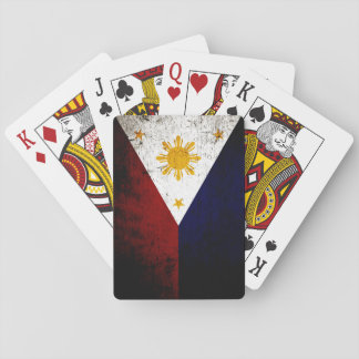 Black Grunge Philippines Flag Playing Cards