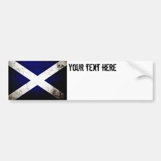 Black Grunge Scotland Flag Bumper Sticker
