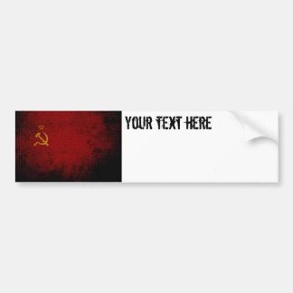 Black Grunge Soviet Union Flag Bumper Sticker