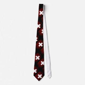 Black Grunge Switzerland Flag Tie