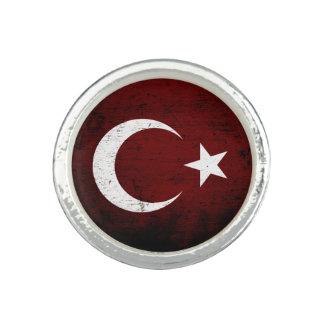 Black Grunge Turkey Flag