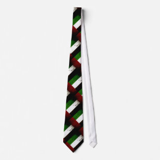 Black Grunge United Arab Emirates Flag Tie