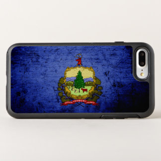 Black Grunge Vermont State Flag OtterBox Symmetry iPhone 7 Plus Case