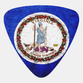 Black Grunge Virginia State Flag Plectrum