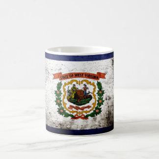 Black Grunge West Virginia State Flag Coffee Mug