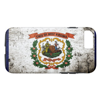 Black Grunge West Virginia State Flag iPhone 7 Case
