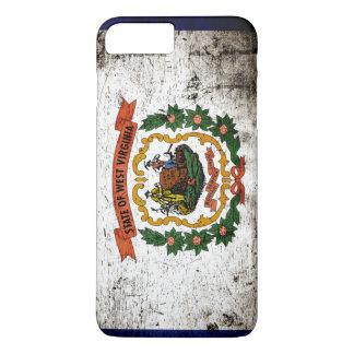 Black Grunge West Virginia State Flag iPhone 7 Plus Case