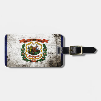 Black Grunge West Virginia State Flag Tags For Bags