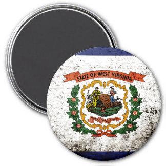 Black Grunge West Virginia State Flag Magnets