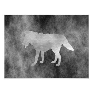Black Grunge Wolf Art Photo