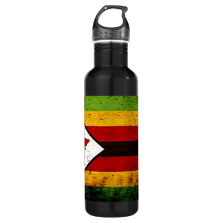 Black Grunge Zimbabwe Flag 710 Ml Water Bottle
