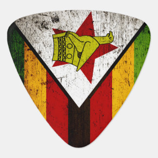 Black Grunge Zimbabwe Flag Plectrum