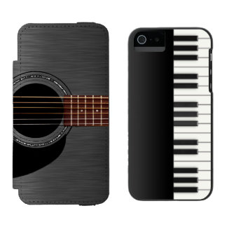Black Guitar Piano Combo Incipio Watson™ iPhone 5 Wallet Case