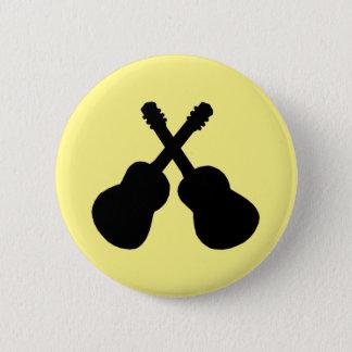 black guitars 6 cm round badge