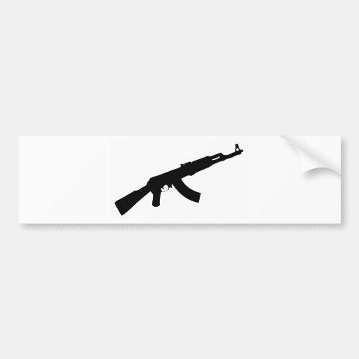 black gun ak 47 icon bumper stickers