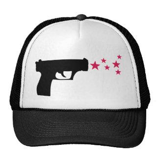 black gun star pistol stars hat