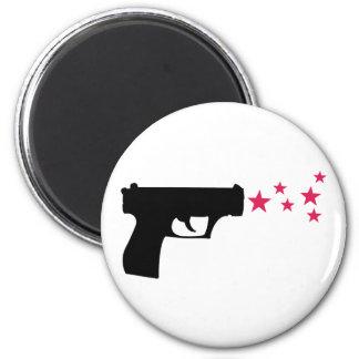 black gun star pistol stars fridge magnets