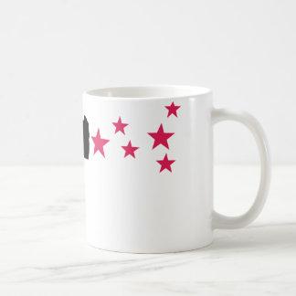 black gun star pistol stars coffee mugs