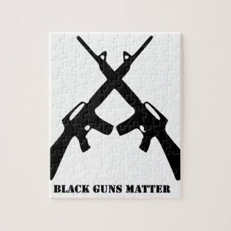 Black Guns Matter Jigsaw Puzzle