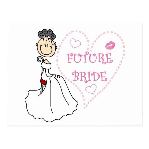 Black Hair Future Bride Tshirts and Gifts Post Card