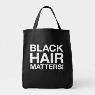 Black Hair Matters Grocery Tote Grocery Tote Bag