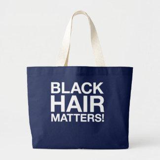 black hair matters tote bag