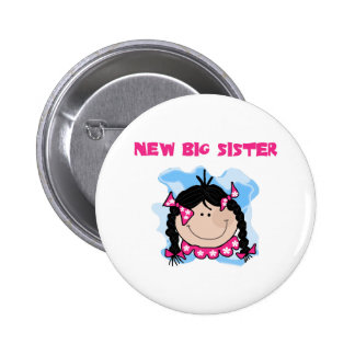 Black Haired Girl New Big Sister Buttons