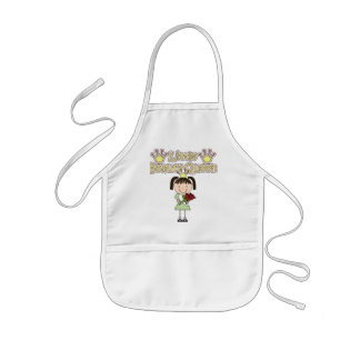 Black Haired Little Beauty Queen Tshirts and Gifts Kids Apron