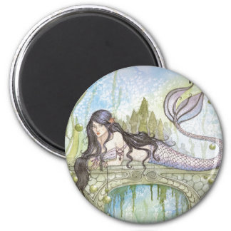 BLACK HAIRED MERMAID MAGNET
