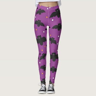 Black Halloween Bats Leggings