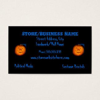 Black Halloween Business Card